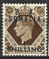 British Middle East Forces  Somalia  1950  S29  1/-d Mounted Mint - Autres