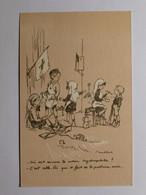 POULBOT - ILLUSTRATEUR - INFIRMIERE / Coton Hydrophile / Drapeau Genre Croix Rouge - Enfant Sur Un Toit - Poulbot, F.