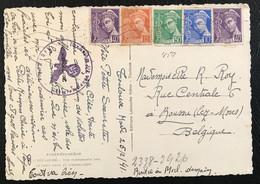 France 1941 Très Belle Carte Postale De Toulouse Vers Boussu (Belgique) Vérifiée Par La Censure SS (1046) - 1938-42 Mercure