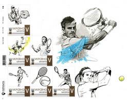 Ukraine 2021, Sport, Tennis, Art, Roger Federer, Sheetlet Of 6v - Ukraine