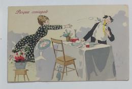 29729 Cartolina Illustrata Umoristica - Pasqua Coniugale - Cartoline Umoristiche