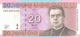 K27 - LITHUANIE - Billet De 20 LITU - Année 2007 - Lituania