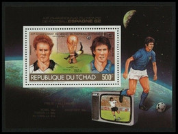 Soccer Football Tchad Chad Bl 125 1982 World Cup Spain MNH ** - 1982 – Spain