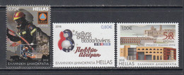 2018 Greece Anniversaries  Emergency Response Firemen Helicopters Complete Set Of 3 MNH @ BELOW FACE VALUE - Unused Stamps