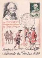 Carte Maximum Journée Nationale Du Timbre  1949 - Lens - 62 - 26 Mars 1949 - De  Choiseul - 1940-49