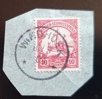 Deutsch Südwestafrika 1903, Briefstück 10Pf WINDHOEK - Colonia: Africa Sud Occidentale