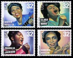 Etats-Unis / United States (Scott No.3216-19 - American Music Series) [**] Set - Unused Stamps