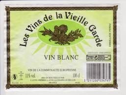 """Étiquette """" Les Vins De La Vieille Garde """" Heaume Cavalier Hussard Napoléon (2365)_ev276 - Bourgogne"""