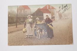 CHARRETTE à CHIEN  - Laitières Belges-en Route Pour La Ville 1905 - Attelages