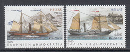 2020 Greece Ancient Postal Routes Ships Europa  Complete Set Of 2 MNH @ BELOW FACE VALUE - Ungebraucht
