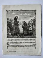 Image Pieuse Religieuse Ancienne Sur TISSU TOILÉ - 7,5 X 9,5 - St François - Éditions Marseille - BEBE - Devotion Images