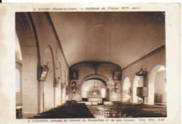 Anost - Intérieur De L'église Avec Les Statues De Gérard De Roussillon Et Son épouse - Autres Communes