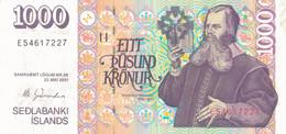 K28 - ISLANDE - Billet De 1000 KRONUR - Année 2001 - Islandia