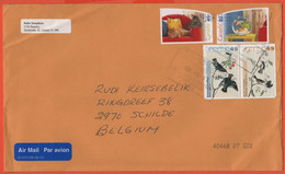 CANADA - 2004 - Cats + Fishes + Birds - Medium Envelope - Viaggiata Da Sherbrooke Per Schilde, Belgium - Storia Postale