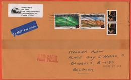 CANADA - 20?? - 2 X 1,25$ + 2 X 25c - Medium Envelope - Viaggiata Da North Vancouver Per Brussels, Belgium - Storia Postale
