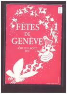 FORMAT 10x15cm - FETES DE GENEVE 1951 - AU DOS: CACHET SPECIAL - TB - GE Ginevra