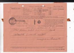ITALIA - TELEGRAMMA - DA ONEGLIA A GENOVA-PONTEDECIMO  - 1931-FORI DA ARCHIVIO - Marcophilia