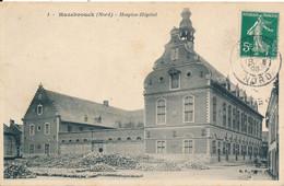 Hazebrouck (59 Nord)hospice Hôpital - édit. BF N° 1 Circulée 1908 Petit Défaut Coin Sup G (émoussé) - Hazebrouck