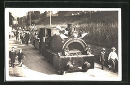 AK Wädenswil, Festumzug 1923 Mit Eisenbahnwagen - ZH Zurich