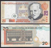 PERU - 20 NUEVOS SOLES Banknote 28.10.2004 Pick 176b AUNC (1-)    (29267 - Otros – América