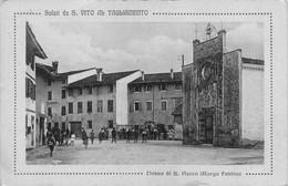 """13688"""" SALUTI DA S.VITO AL TAGLIAMENTO-CHIESA DI S. ROCCO """"ANIMATA-VERA FOTO-CART. POST. NON SPEDITA - Pordenone"""
