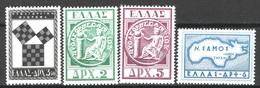 Grecia 1955 Unif.618/21 */MH VF/F - Nuovi