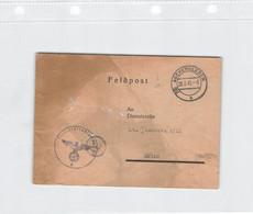DR Brief Feldpost 1945 2.WK Aschersleben 28.3.45 Flakersatzabteilung 93, Eintreffbestätigung - Brieven En Documenten