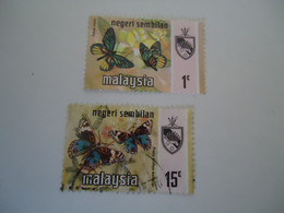 NEGRI SEMBILAN   MALAYSIA USED STAMPS BUTTERFLIES - Negri Sembilan