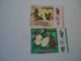 TRENGGANU   MALAYSIA USED  STAMPS BUTTERFLIES - Trengganu