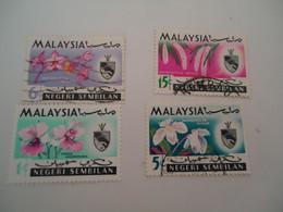 NEGRI SEMBILAN   MALAYSIA USED STAMPS FLOWERS - Negri Sembilan