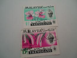 TRENGGANU   MALAYSIA USED STAMPS FLOWERS - Trengganu