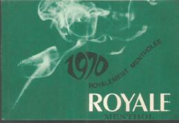 F151 / Calendrier De Poche ANCIEN  Publicitaire 1970 Cigarette ROYALE Mentholée MENTHOL  ARIEL - Small : 1961-70