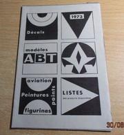 ABT21 Très Rare Décal Années 60/70 ABT : POCHETTE DE 1973 - Decalcografie
