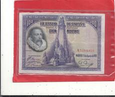 EL BANCO DE ESPANA .   100 PESETAS .  15-8-1928  . N° A 7,284,410 .  2 SCANES - 100 Pesetas
