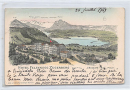 ZUGERBERG (ZG) Hotel Felsenegg - Verlag Wolfensberger - ZG Zoug