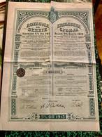 ROYAUME  De  SERBIE  EMPRUNT   5%  1913 ---------  Obligation  De  500 Frs - Unclassified