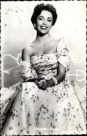 CPA Schauspielerin Elizabeth Taylor, Portrait, Kleid - Acteurs