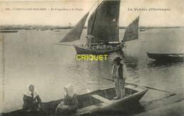 85 L'Aiguillon Sur Mer, De L'Aiguillon à La Faute, Très Beau Voilier En Avant, Carte Pas Courante Affranchie 1907 - Autres Communes