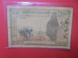 SENEGAL (K) 500 FRANCS 1959-1965 Signature N°8 Circuler (B.24) - West African States