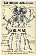 CPA SAINT BLAISE - Les Reliques Authentiques - ( Satirique - Humour ) - Ed. L. Clercx - Andere
