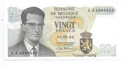 *belguim 20 Francs 1964 D'HAIZE - Altri