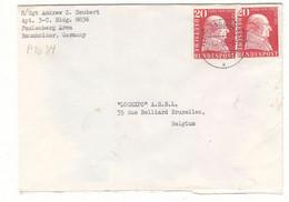 Allemagne - République Fédérale - Lettre Militaire De 1958 - APO 34 - Oblit Baumholder - Valeur 12 Euros - Briefe U. Dokumente
