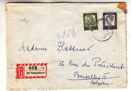 Allemagne - République Fédérale - Lettre Recom De 1964 - Oblit Delmenhorst - - Briefe U. Dokumente