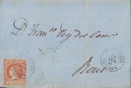 ESPAGNE - GANDESA - LETTRE DU 19 MAI 1862 SANS TEXTE. - Briefe U. Dokumente