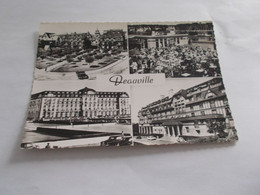 DEAUVILLE ( 14 Calvados ) MULTIVUES  LE NORMANDY LE BAR DU SOLEIL ROYAL HOTEL  HOTEL DU GOLF  1958 - Deauville