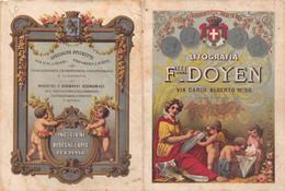 """03006 """"LITOGRAFIA F.LLI DOYEN - TORINO - SPECIALITA' ETICHETTE....."""" ANIMATO, CALENDARIETTO 1871 - CROMOLITO - Small : ...-1900"""
