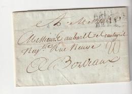"""Lettre Du Cap Avec Marque """"Colonies Par Brest"""" Pour Bordeaux, 1781 - 1701-1800: Vorläufer XVIII"""