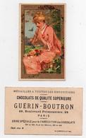 Chromo Dorée Chocolat Guérin-Boutron Champenois La Charmeuse De Papillons - Guérin-Boutron