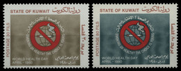 Kuwait 1980 - Mi-Nr. 853-854 ** - MNH - Anti-Raucher Kampagne - Koeweit