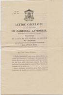 Tunis, 1890,construction Cathédrale, Lettre Circulaire Du Cardinal Lavigerie, Archevêque Carthage Et Alger, Primat Afriq - Documenti Storici